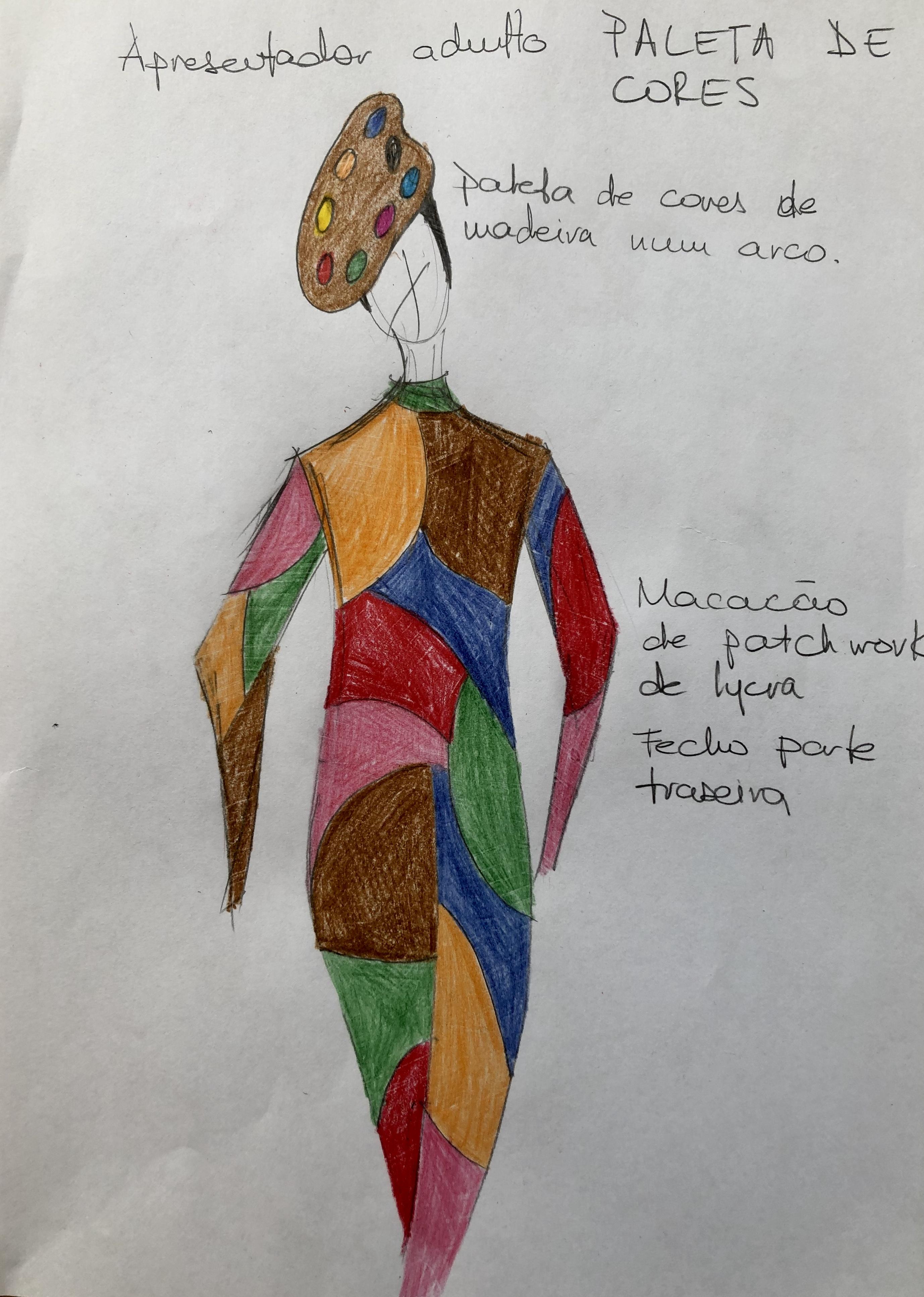 Um estudo para os figurinos infantis produzidos por Alexia