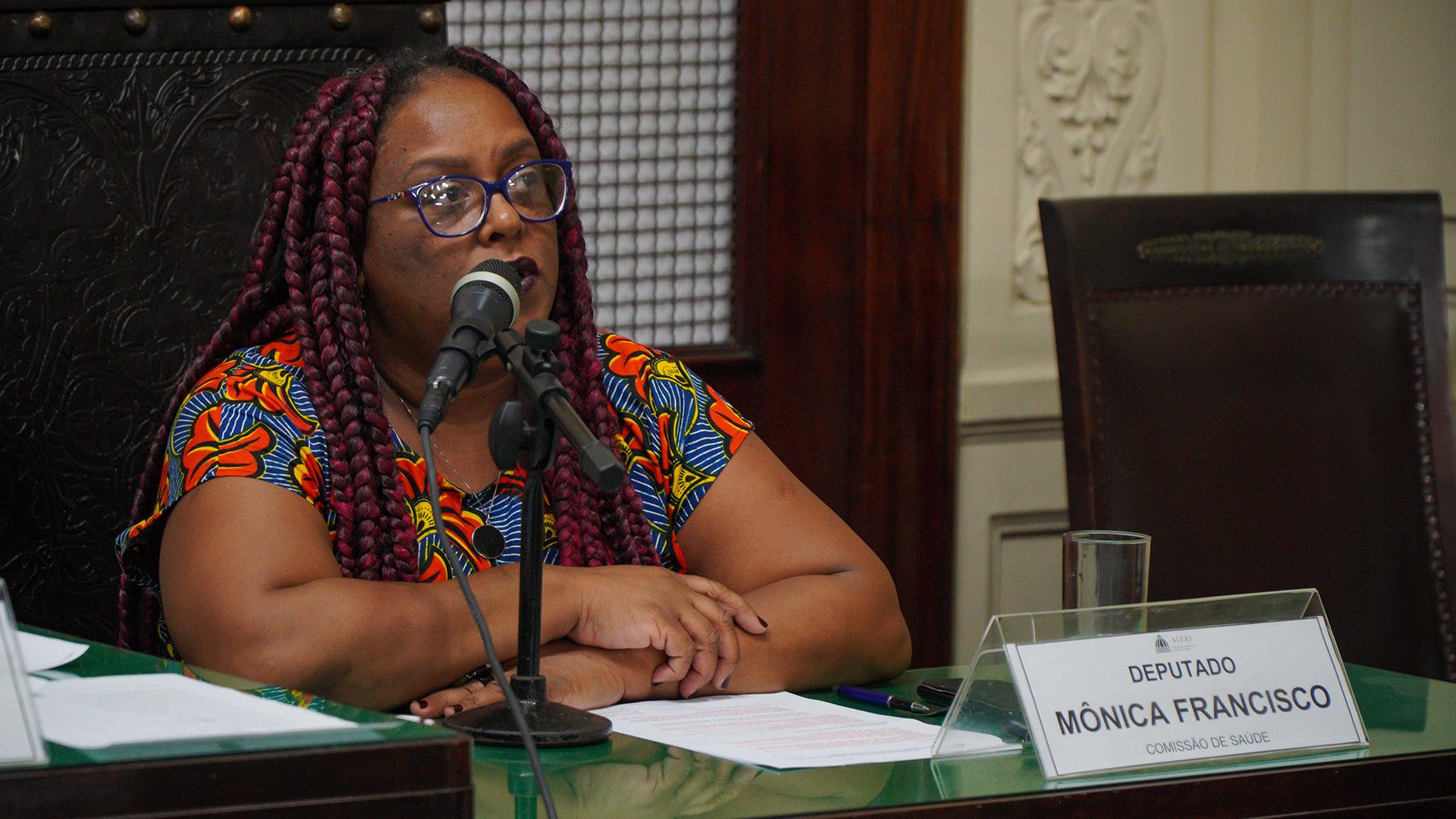 Monica Francisco, deputada estadual no Rio de Janeiro e ex-assessora de Marielle Franco –
