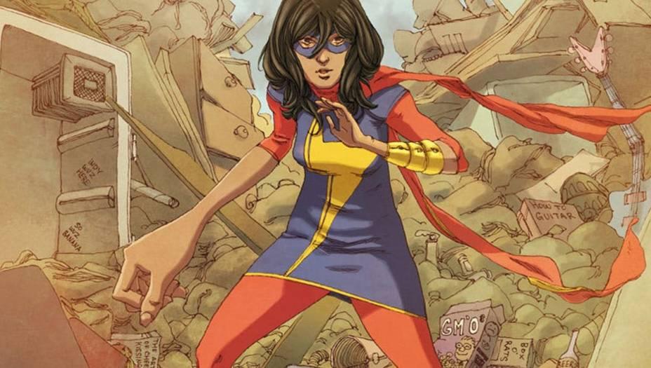 Ms. Marvel: Kamala Khan é a atual Ms. Marvel, manto que já foi vestido por Carol Danvers. Se até os anos 2010 a personagem era uma norte-americana loira, após esse período Khan assumiu o manto como uma garota muçulmana, de ascendência paquistanesa. Embora não seja a primeira muçulmana da Marvel, é a primeira personagem a ter revista em quadrinhos própria.