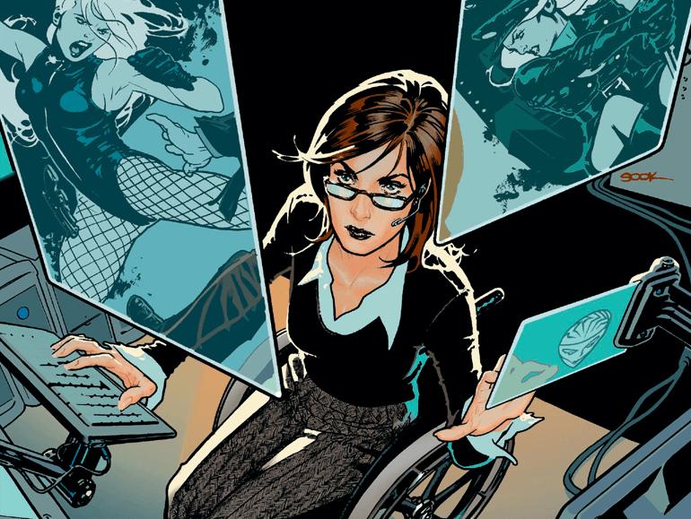 Barbara Gordon, a primeira Batgirl e filha do Comissário Gordon, se tornou a heroína cadeirante Oráculo após ter sido atingida por uma bala na coluna pelo Coringa. Por anos, ela foi a comandante da equipe feminina Aves de Rapina.