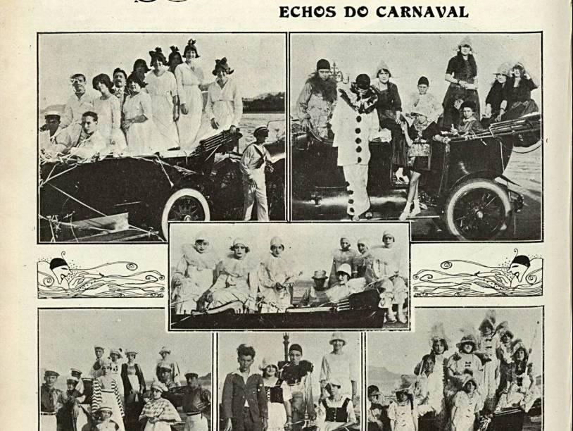 Uma reportagem da revista Careta, de 1919, sobre o Carnaval depois da espanhola