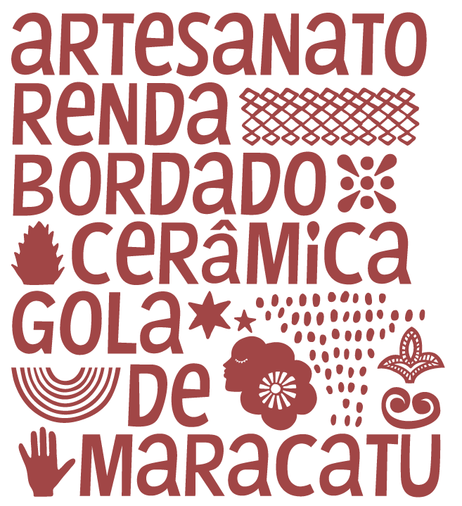 Parte da identidade visual criada por Joana para o governo de Pernambuco.