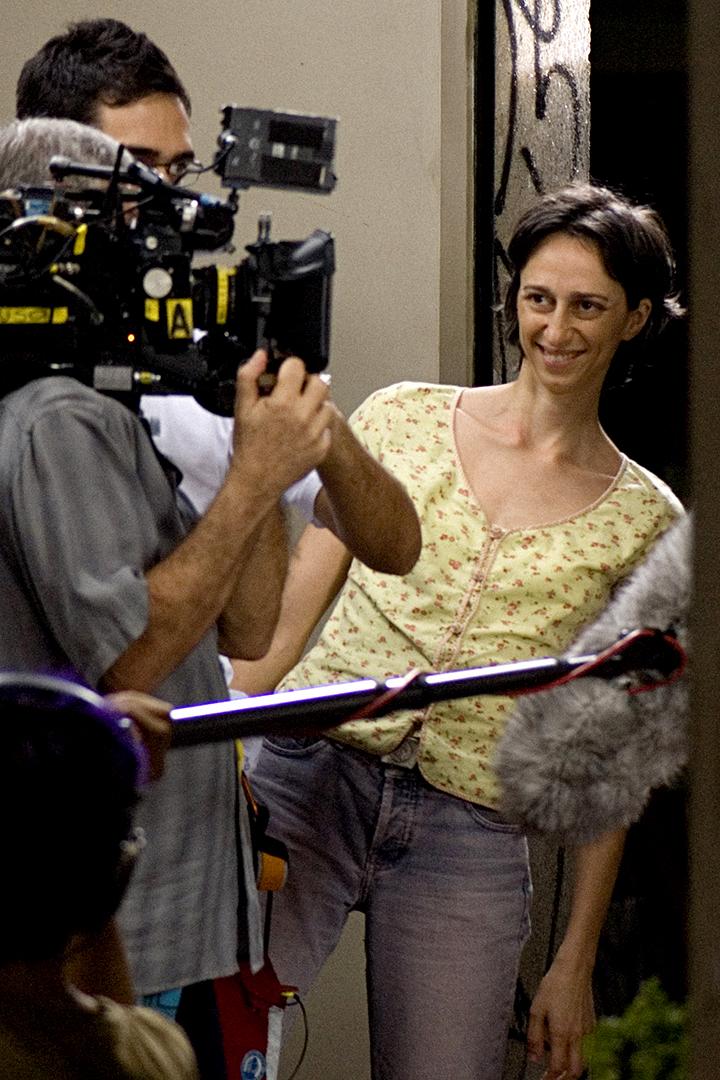 """Laís Bodanzky no set de filmagem de """"Chega de Saudade""""."""