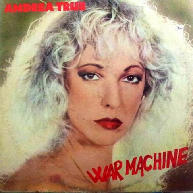 Capa de War Machine, último disco de Andrea, gravado na Itália nos anos 80