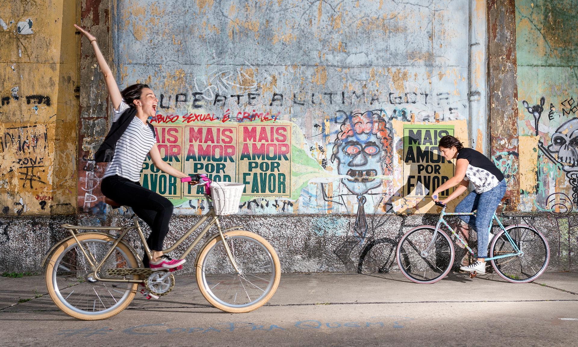 Maria Escorel e Patricia Quintella fundadoras da Reciclo Bikes, em Recife, Pernambuco