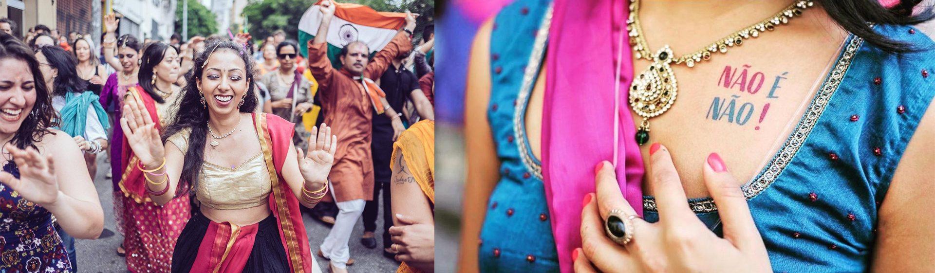Bloco Bollywood, em São Paulo: misturando algumas tradições indianas com movimentos contemporâneos