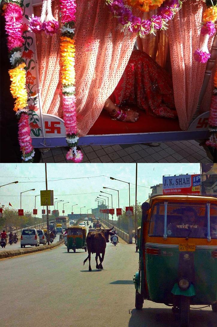Retratos de memórias na Índia, de 2011 e 2012, quando Juily foi ao país pela primeira vez