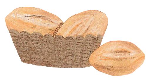 colagem de pão frances em uma cesta